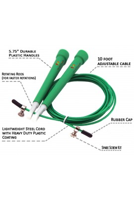 Pro Cable Jump Rope - Green