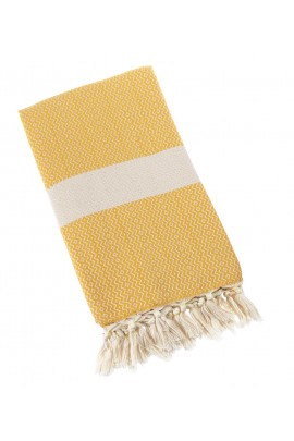 Eshma Mardini Turkish Towel Peshtemal for Beach Spa Bath Pool Sauna Yoga Pilates Fitness - Yellow