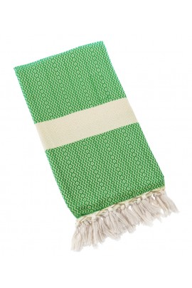 Eshma Mardini Turkish Towel Peshtemal for Beach Spa Bath Pool Sauna Yoga Pilates Fitness - Green