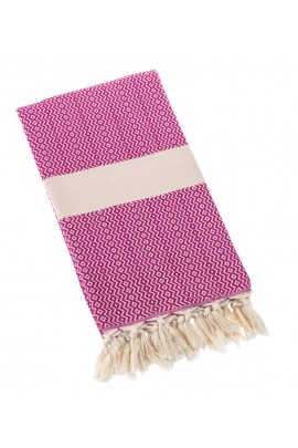 Eshma Mardini Turkish Towel Peshtemal for Beach Spa Bath Pool Sauna Yoga Pilates Fitness - Fuchsia